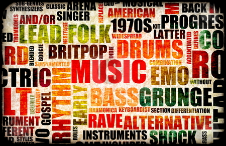 Music Background stock photo, Music Background With Different Genres and Types by Kheng Ho Toh