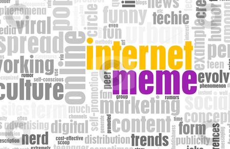 Internet Meme stock photo, Internet Meme Online Culture as a Social Trend by Kheng Ho Toh