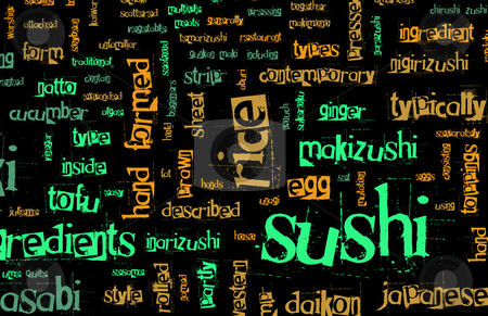 Sushi Menu stock photo, Sushi Menu Background for Japanese Food Meal by Kheng Ho Toh