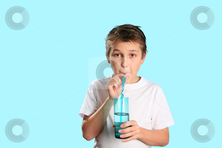 Pure Fresh H2O stock photo, A child drinking pure fresh water. by Leah-Anne Thompson