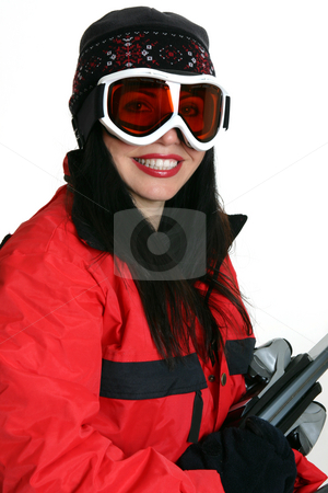 Winter sports stock photo, Female dressed for some winter sports action. by Leah-Anne Thompson