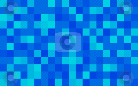 Halftone squares stock photo, A blue squared background composed of halftone dots of varying intensities by Stephen Gibson