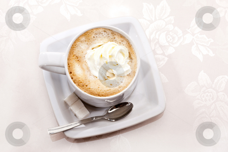 Coffee stock photo, Drink series: cup of coffee with cream by Gennady Kravetsky