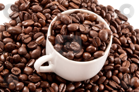 Coffee stock photo, Food series: tasty coffe hill with cup by Gennady Kravetsky