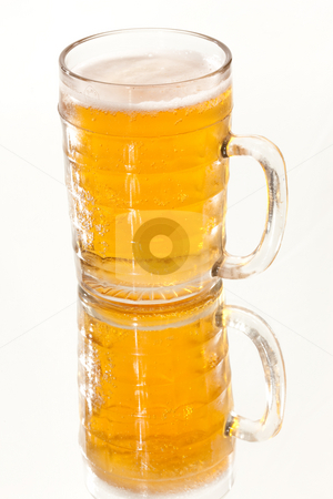 Beer  stock photo, Food series: full glass of cold beer by Gennady Kravetsky