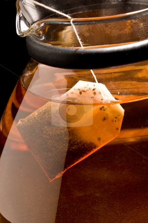Brewing of tea stock photo, Drink series: brewing (of black tea in the pot by Gennady Kravetsky