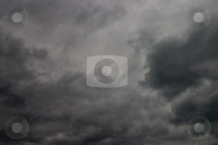 Cloudy sky  stock photo, Nature seris: heavy dark clouds in the sky by Gennady Kravetsky