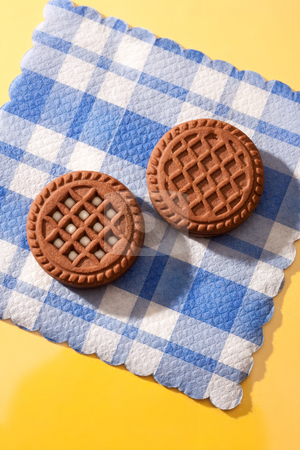 Pastry stock photo, Food series: chocolate pastry on the napkin by Gennady Kravetsky