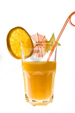 Orange stock photo, Drink series: orange juice with alcohol, mix cocktail by Gennady Kravetsky