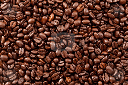 Coffee-beans stock photo, Drink series: background of fried coffee beans by Gennady Kravetsky