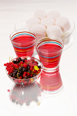 Soft drink stock photo, Drink series: berry drink with red and black currant by Gennady Kravetsky