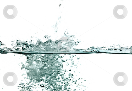 Water stock photo, Nature series: water splash and air bubbles by Gennady Kravetsky