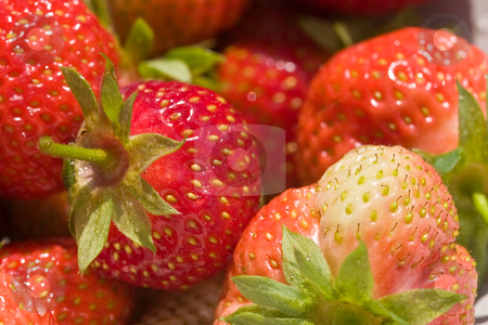Strawberry stock photo, Food series: freshly grown tasty strawberry texture by Gennady Kravetsky