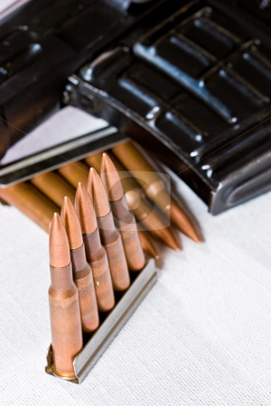 Bullet stock photo, Military series: macro picture of some bullets by Gennady Kravetsky