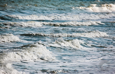 Sea stock photo, Nature series: summer sea breaker with foam by Gennady Kravetsky
