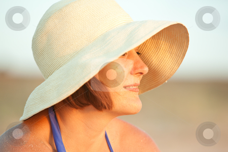 Woman with hat on stock photo, People series: pretty woman with hat on by Gennady Kravetsky