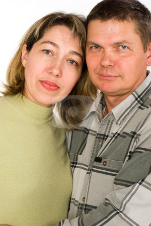Married couple stock photo, People series: portrait of husband and wife by Gennady Kravetsky
