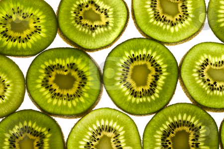 KIWI background stock photo, Food series: macro picture of sliced Kiwi Fruit by Gennady Kravetsky