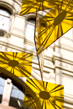 Decoration stock photo, Fashion series: interior decoration glasses in yellow by Gennady Kravetsky