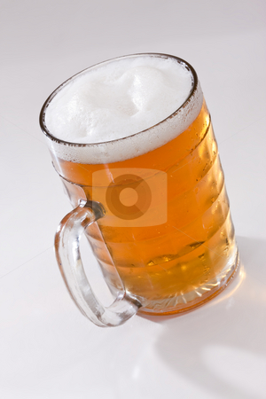 Cold beer stock photo, Drink series: glassy bocal with light beer by Gennady Kravetsky