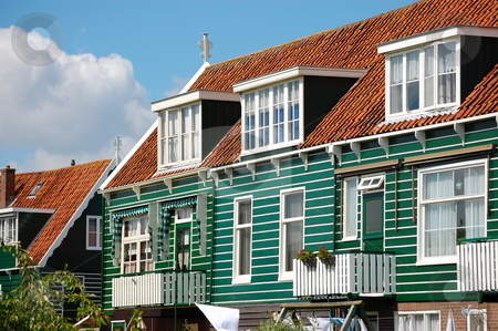 Pitoresque Dutch Village stock photo, Houses in Marken, a pitoresque tourist town in the Netherlands. by Jose Eduardo Valle