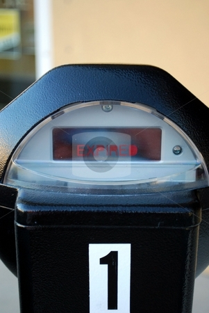 Time has expired stock photo, Parking meter has expired need more money by Charles Bacon jr