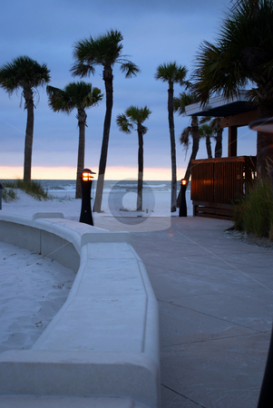 Path to beach at sunset stock photo, Path to the beach and a little peace at sunset by Charles Bacon jr