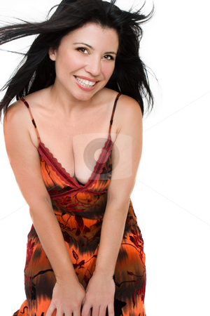 Happy woman stock photo, Happy woman smiling by Leah-Anne Thompson