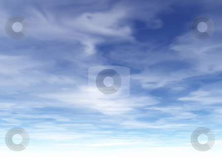 Clouds stock photo, Cloudy sky - digital illustration by J?