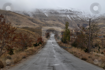 Straight Forward stock photo, A Straight Away road were the path leads you to the hope by Tony Abdou
