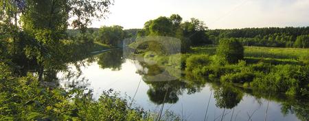 River panorama stock photo, River panorama by Andrey Ivanov