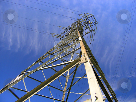 Electrotower from below  stock photo, Electrotower from below by Andrey Ivanov