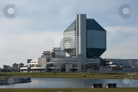 National library of Belarus (back view) stock photo, National library of Belarus in Minsk (back view) by Tatsiana Amelina