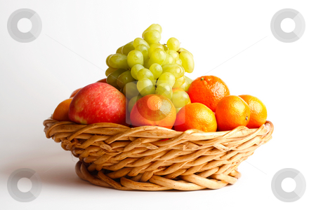 Assorted Fruit stock photo, A basket of assorted fruits by Alexander Zschach