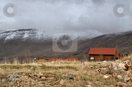 Farm House stock photo, Side of a country lifestyle located on an elevation of 2000m in Lebanon by Tony Abdou