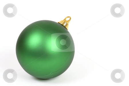 Unadorned Christmas ball stock photo, A plain christmas ball decoration on a white background by Leah-Anne Thompson