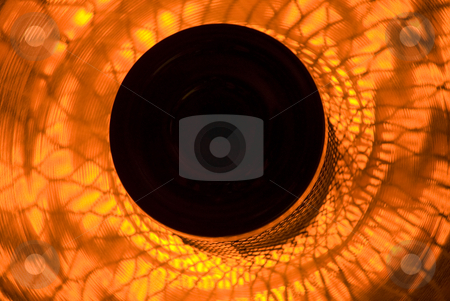 Artificial Sun Flower stock photo, A Circular plate decorated in architectural design for heating by Tony Abdou