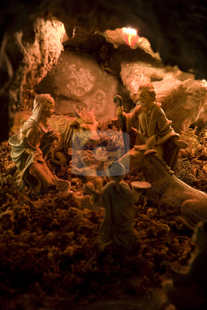 Holy Christ stock photo, A Stony handmade cavern made for Christmas occasion by Tony Abdou