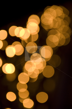 Golden Lights stock photo, Shiny Gold Light decorated on a balcony for Christmas Occasion by Tony Abdou