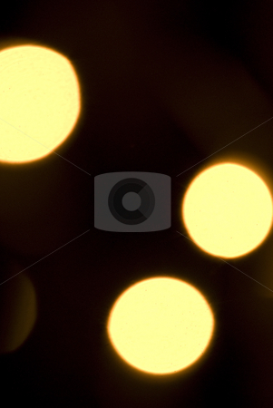 Lights stock photo, Shiny Gold Light decorated on a balcony for Christmas Occasion by Tony Abdou