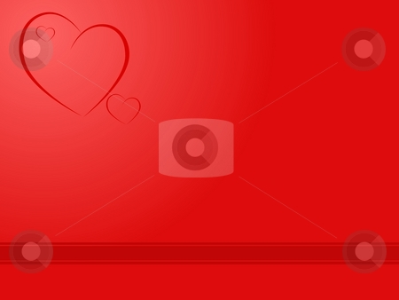 Heart Backgound stock photo, Red heart backgroun for valentines day or wedding by Henrik Lehnerer
