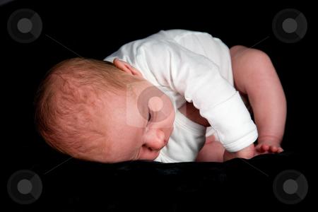 Newborn Baby Boy stock photo, A close up on a newborn baby boy. Ten days old. by Travis Manley