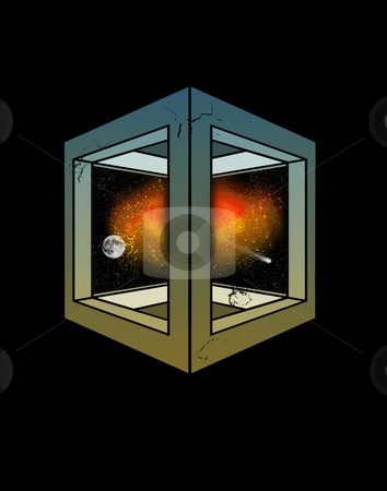 Expanding Universe (concept illustration) stock photo,  by W. Paul Thomas
