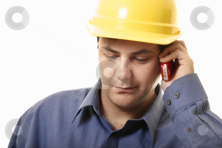 Business Quote stock photo, A man takes a phonecall on his cellphone by Leah-Anne Thompson