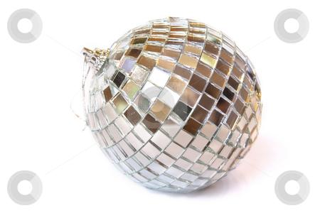 Christmas ball stock photo, Disco ball. Isolated on white by Olga Lipatova