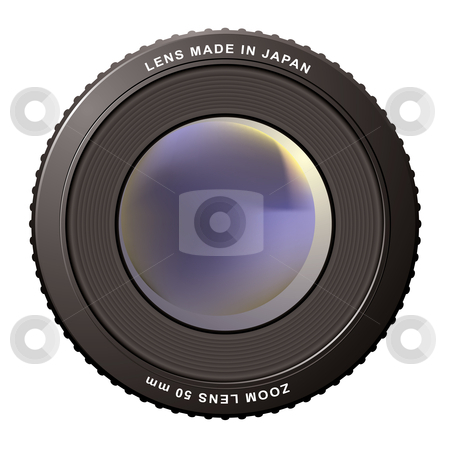 Zoom lens misty stock vector clipart, Camera zoom lens with blur center ideal icon by Michael Travers