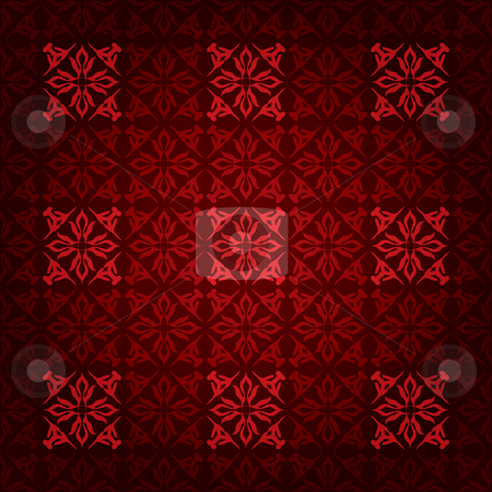 Red square victorian stock vector clipart, Royal red seamless wallpaper background with gradient effect by Michael Travers
