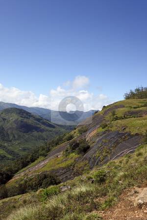 Eravikulam national park stock photo, A view across the hills of eravikulam national park in south india by Mike Smith