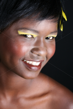 Female Model stock photo, Beautiful young African female model with accessories by Vanessa Van Rensburg