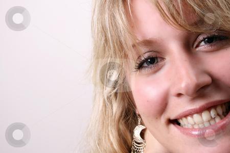 Model Close Up stock photo, Close up of beautiful blond model wearing jewelery by Vanessa Van Rensburg